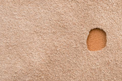 Aperture in suede leather Royalty Free Stock Photography