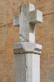 apertury krzyżują przepływów fontanny mężczyzna monasteru s świętą kamienia wodę Zdjęcie Stock