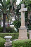 apertury krzyżują przepływów fontanny mężczyzna monasteru s świętą kamienia wodę Obraz Royalty Free