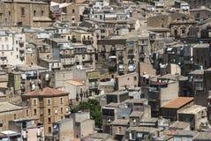 Aperçu de la ville de l'armerina Enna Sicile Italie l'Europe de place Photographie stock