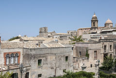 Aperçu de la ville de l'erice Trapani Sicile Italie l'Europe Images libres de droits