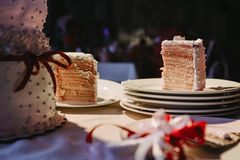 Apetic wedding cake royalty free stock images