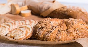 Apetics bakery products in wide variety. Fresh apetics bakery products in wide variety Stock Photo