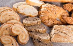 Apetics bakery products in wide variety. Fresh apetics bakery products in wide variety Stock Image