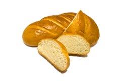 Apetitoso cortó el pan blanco, pan fresco de la mañana, desayuno imagen de archivo libre de regalías