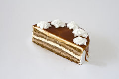 _ apetitoso poner crema torta Imagen de archivo