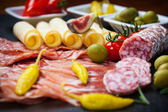 Apetizers和开胃小菜 免版税库存照片
