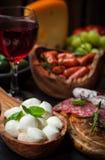 Apetizers和开胃小菜 免版税图库摄影