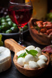 Apetizers and antipasti Stock Images