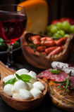 Apetizers and antipasti Royalty Free Stock Photography