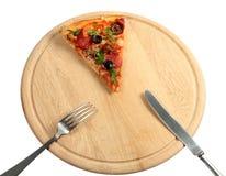 apetyczna nożowa kawałka pizzy prymka Zdjęcia Royalty Free