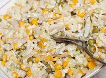 Apetyczna sałatka. Rosyjski popularny jedzenie obraz stock