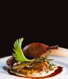 Apetyczny kaczki confit z grulą i cebulami Obraz Royalty Free