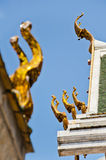 Apex del timpano del tempiale tailandese Immagine Stock Libera da Diritti