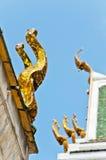 Apex del timpano del tempiale tailandese Fotografie Stock Libere da Diritti