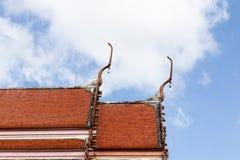 Apex del timpano del tempiale tailandese Fotografie Stock