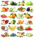 Apfel-Apfelbananen-Erdbeerpet der Fruchtfruchtsammlung orange Stockbild