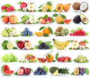 Apfel-Apfelbananen-Erdbeerpet der Fruchtfruchtsammlung orange Lizenzfreies Stockbild