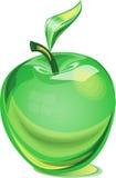 Apfel des grünen Glases Stockbild