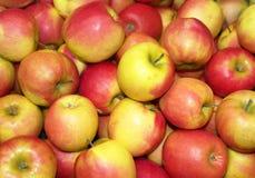 Apfel-Hintergrund Stockbild