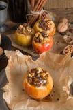 Apfel mit Nuss Karamell Füllung Royalty Free Stock Photos