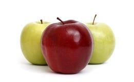 Apfel-Trio Lizenzfreie Stockfotos