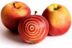 Apfel-Ziel Stockfotos