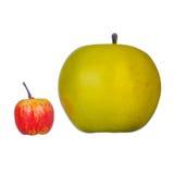 Apfel zwei Lizenzfreie Stockfotos