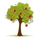 Apfelbaum auf einem weißen Hintergrund Lizenzfreies Stockbild