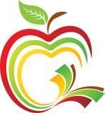 Apfelbuchlogo Lizenzfreies Stockfoto