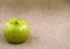 Apfelgrüner Leinenstoff Lizenzfreie Stockfotos