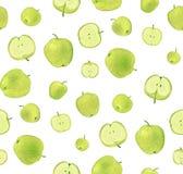 Apfelgrünes Muster Lizenzfreie Stockfotos