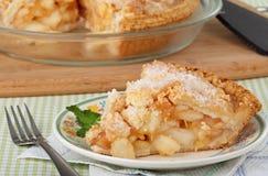 Apfelkuchen gebacken Stockbild