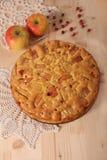 Apfelkuchen mit Apfel Lizenzfreies Stockbild