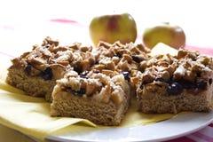 Apfelkuchen mit Streusel Lizenzfreie Stockfotos