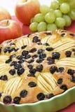 Apfelkuchen mit Trauben Lizenzfreie Stockbilder