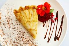 Apfelkuchennachtischkuchen Stockbilder