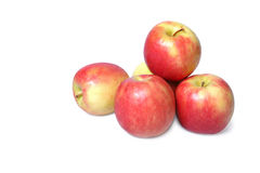Apfelnahaufnahme lokalisiert auf weißem Hintergrund lizenzfreies stockbild