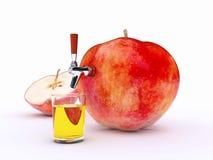 Apfelsaft stock abbildung