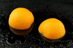 Apfelsine s'est divisé Photographie stock libre de droits