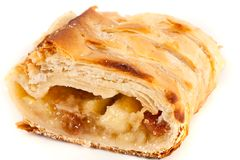 Apfelstrudel (Apfelkuchen) Lizenzfreies Stockfoto