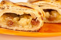 Apfelstrudel (apple pie) Stock Photos