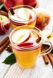 Apfelwein mit Zimtstangen lizenzfreie stockfotografie