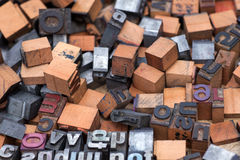 Aphabet stamp, Block letters Stock Image