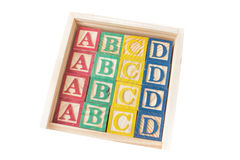 Aphabet stamps for a srapbooking Royalty Free Stock Photo