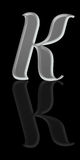 Aphabetical Script Letter - Silver Metal K Stock Photos