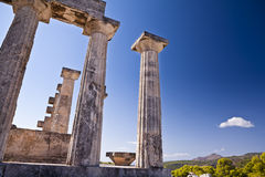 Aphaia temple on Aegina Island. A part of aphaia temple, a beautiful greek temple on a little island in Saronic Gulf called Aegina (Greece Stock Images