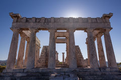Aphaia temple in Aegina Island, Greece Stock Photo