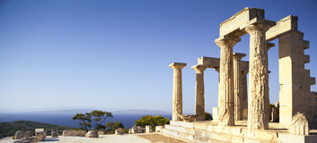 Aphaia temple in Aegina Island, Greece Royalty Free Stock Photography