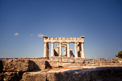 Aphaia temple on Aegina Island, Greece Royalty Free Stock Photography